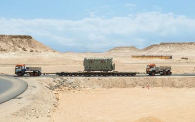 Schwertransport in Ägypten von Universal Transport