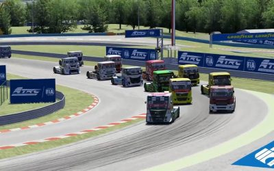 Virtual truck racing: racing drivers also work from home