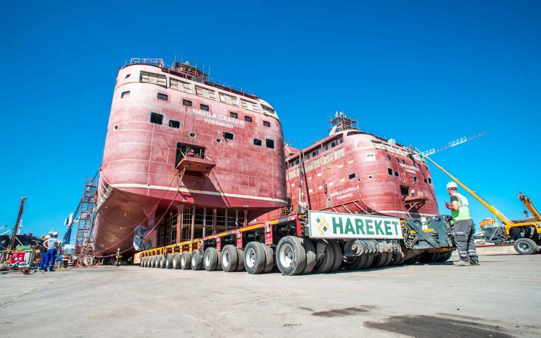 Ships on wheels